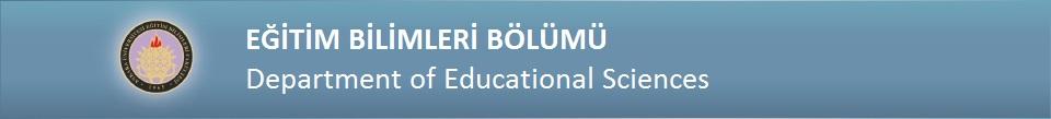 Eğitim Bilimleri Bölümü